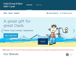 Coles Group & Myer gift card purchase