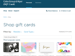Coles Group & Myer shopping