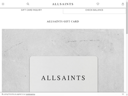 All Saints gift card balance check
