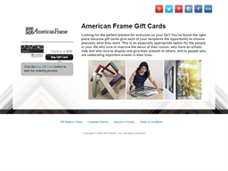 American Frame gift card purchase