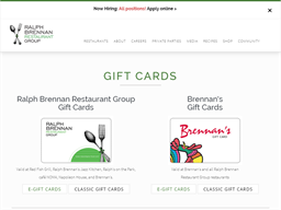 Brennan's Restaurant gift card purchase