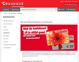 Bauhaus gift card purchase