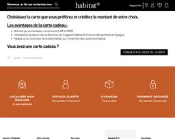 Habitat gift card balance check