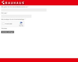 Bauhaus (de) gift card balance check