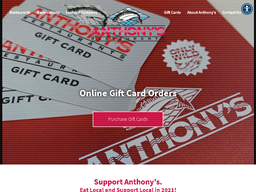 Anthony's Restaurants gift card purchase