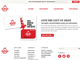 Arby's gift card purchase