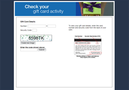 Arizona's gift card balance check