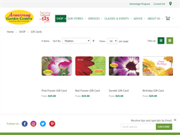 Armstrong Garden Centers gift card purchase