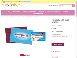 Euro Baby gift card purchase
