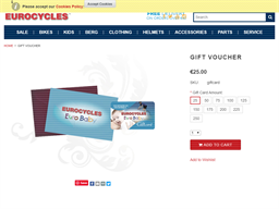 Eurocycles gift card purchase