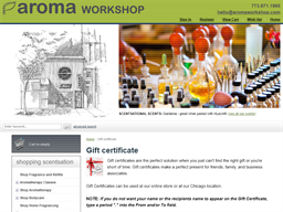 Aroma Workshop gift card purchase