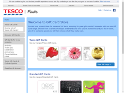 Tesco gift card purchase