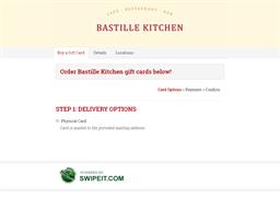 Bastille Kitchen gift card purchase