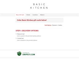Basic Kitchen gift card balance check