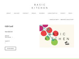 Basic Kitchen gift card purchase