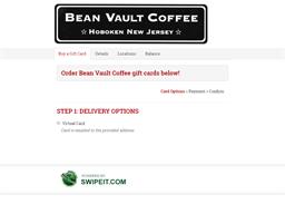 Bean Vault Coffee gift card balance check
