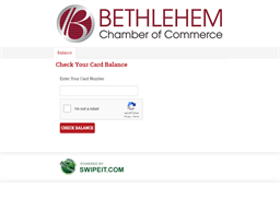 Bethlehem Chamber of commerce gift card purchase