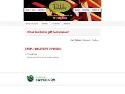 Bia Bistro gift card balance check