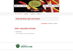 Bia Bistro gift card purchase
