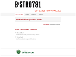 Bistro 781 gift card purchase