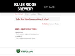 Blue Ridge Brewery gift card balance check