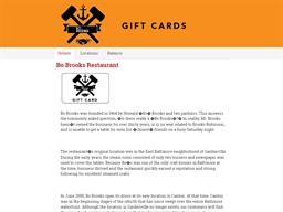 Bo Brooks Restaurant gift card balance check