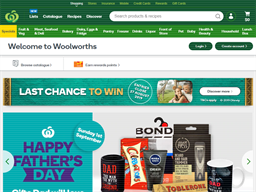 Woolworths Supermarkets shopping
