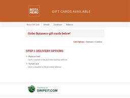 Botanero gift card purchase