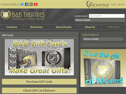 B&B Theatres gift card balance check