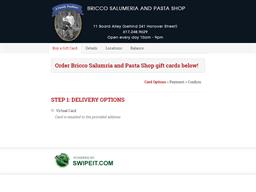 Bricco Salumria and Pasta Shop gift card balance check