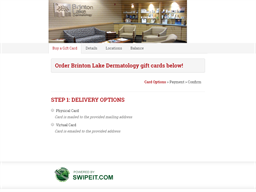 Brinton Lake Dermatology gift card balance check