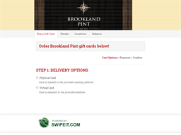 Brookland Pint gift card balance check