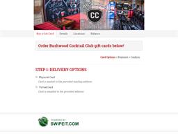 Bushwood Cocktail Club gift card balance check