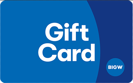 Big W gift card design and art work