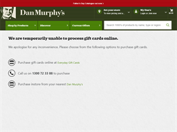 Dan Murphy gift card purchase