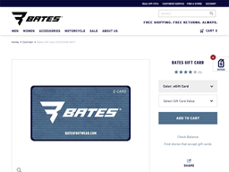 Bates Footwear gift card balance check