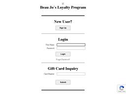 Beau Jo's Pizza gift card balance check