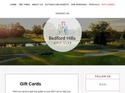 Bedford Hills Golf Club gift card purchase
