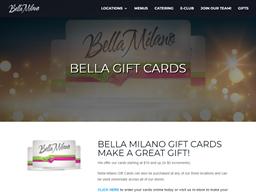 Bella Milano gift card purchase