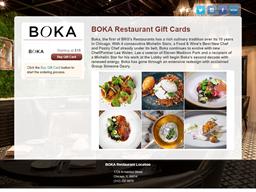 BOKA Restaurant gift card purchase