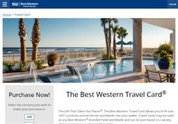 Best Western Hotel gift card balance check