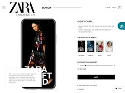 Zara gift card purchase