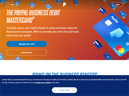 PayPal Access Card shopping