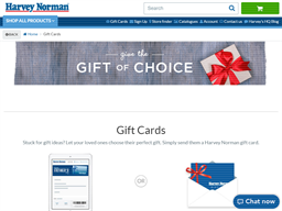 Harvey Norman gift card purchase