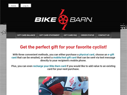 Bike Barn gift card purchase