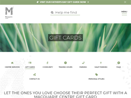Macquarie Centre gift card purchase