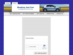 Broadway Auto Care gift card balance check