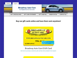 Broadway Auto Care gift card purchase