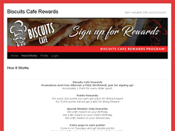 Biscuits Cafe gift card purchase