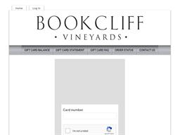Bookcliff Vineyards gift card balance check